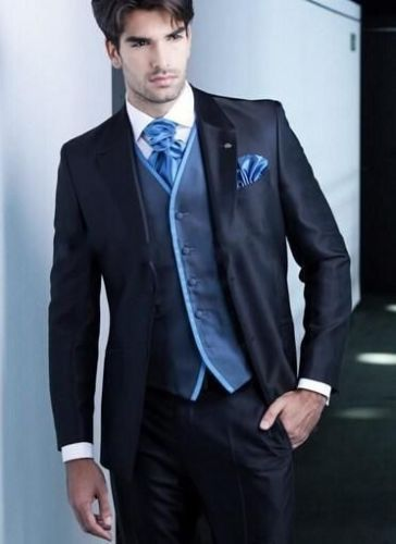 Custom Made New Style Best Man Navy Blue Tuxedos Groomsman font b Suits b font font
