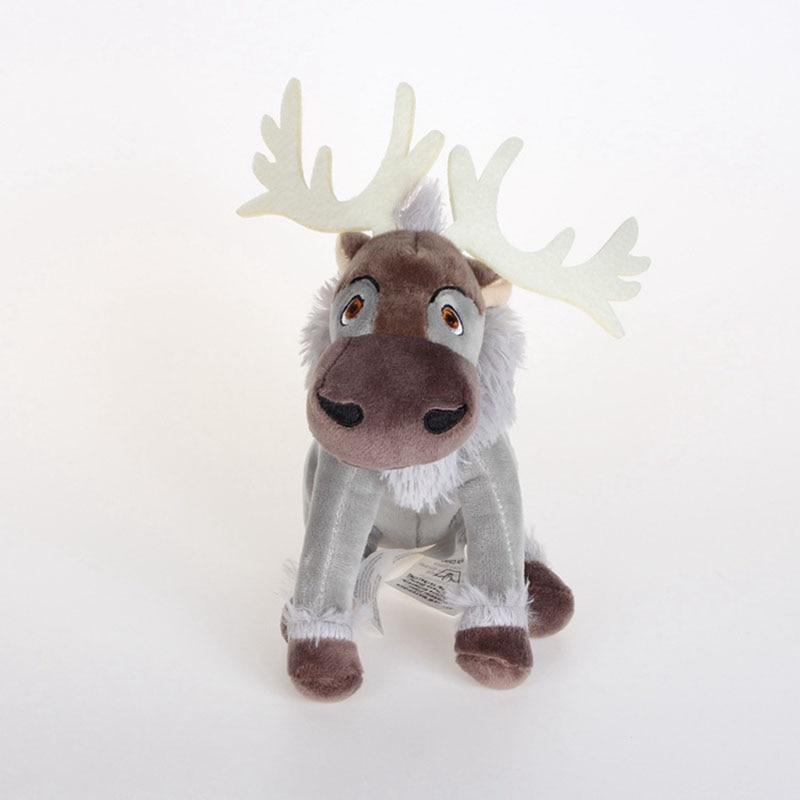 20cm Kawaii Anime Sven Reindeer Kristoff Friend Svee Solf Stuffed Plush Doll Toys For Kids Christmas Gifts