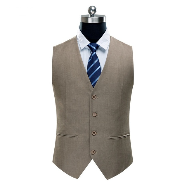 New Arrival Mens Suit Vest High Quality brand Fashion Blazer Slim Men's solid color Waistcoat Men Suit Jacket Plus Size