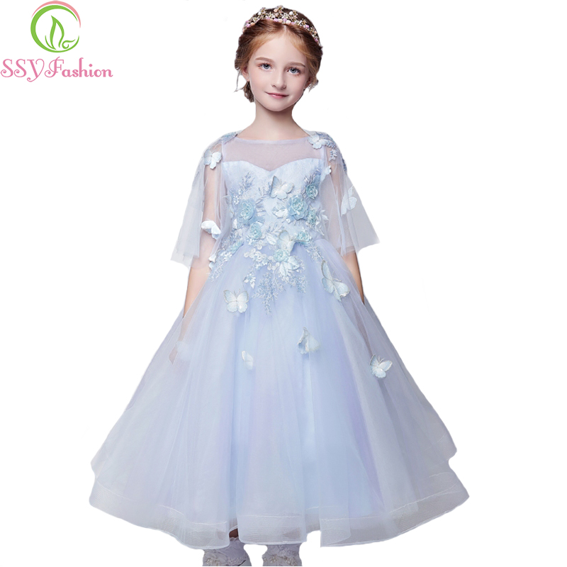 SSYFashion 2017 New Fresh Flower Girl Dresses Children Princess ...