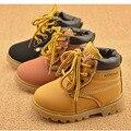 Nueva Moda de Invierno Botas de Bebé Niños Y Niñas Calzado Botas Ninas 2015 Infantil de La Muchacha de Cuero de Invierno Botas de Bebé botas de Nieve Caliente botas