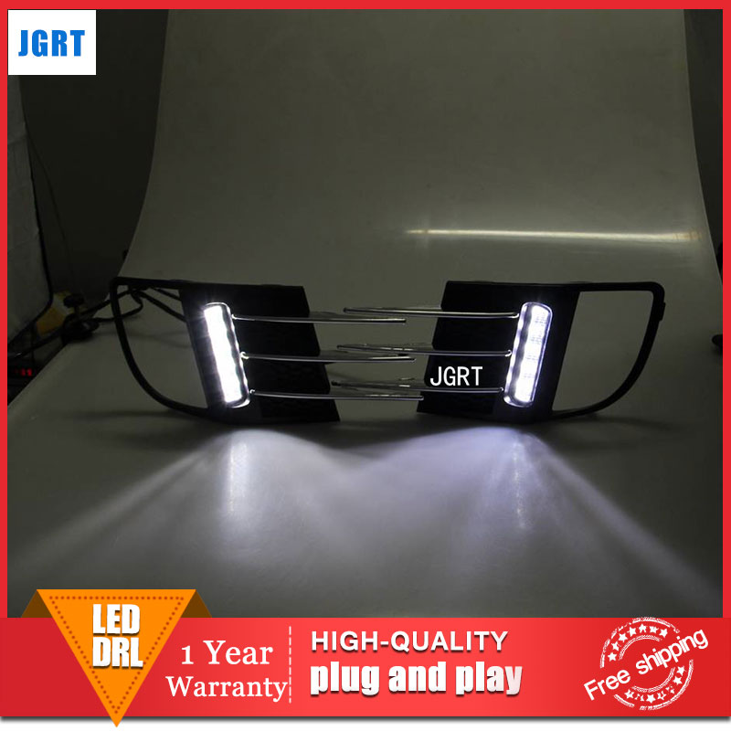 car styling 2009-2012 For VW golf 6 LED DRL For golf 6 led fog lamps daytime running light High brightness guide LED DRL 2011 2013 vw golf6 daytime light free ship led vw golf6 fog light 2ps set vw golf 6