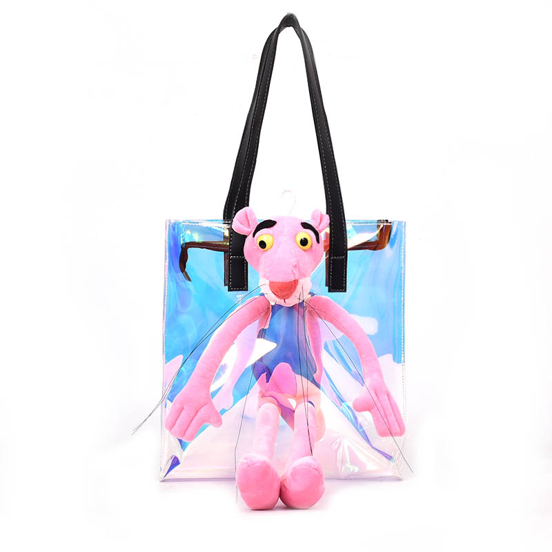 825a722f07e2 Trendy New Design Laser Clear Gradient Color Symphony PVC Women s Cartoon Shopping  Bag Tote Bag Beach Bag Female Casual Totes
