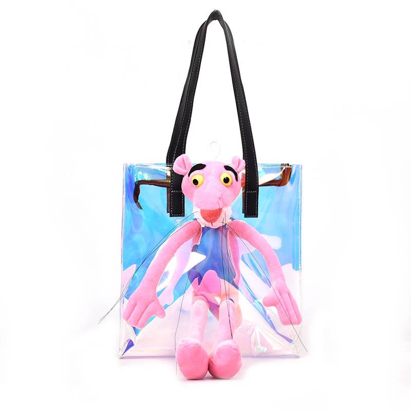 825a722f07e2 Trendy New Design Laser Clear Gradient Color Symphony PVC Women s Cartoon Shopping  Bag Tote Bag Beach Bag Female Casual Totes
