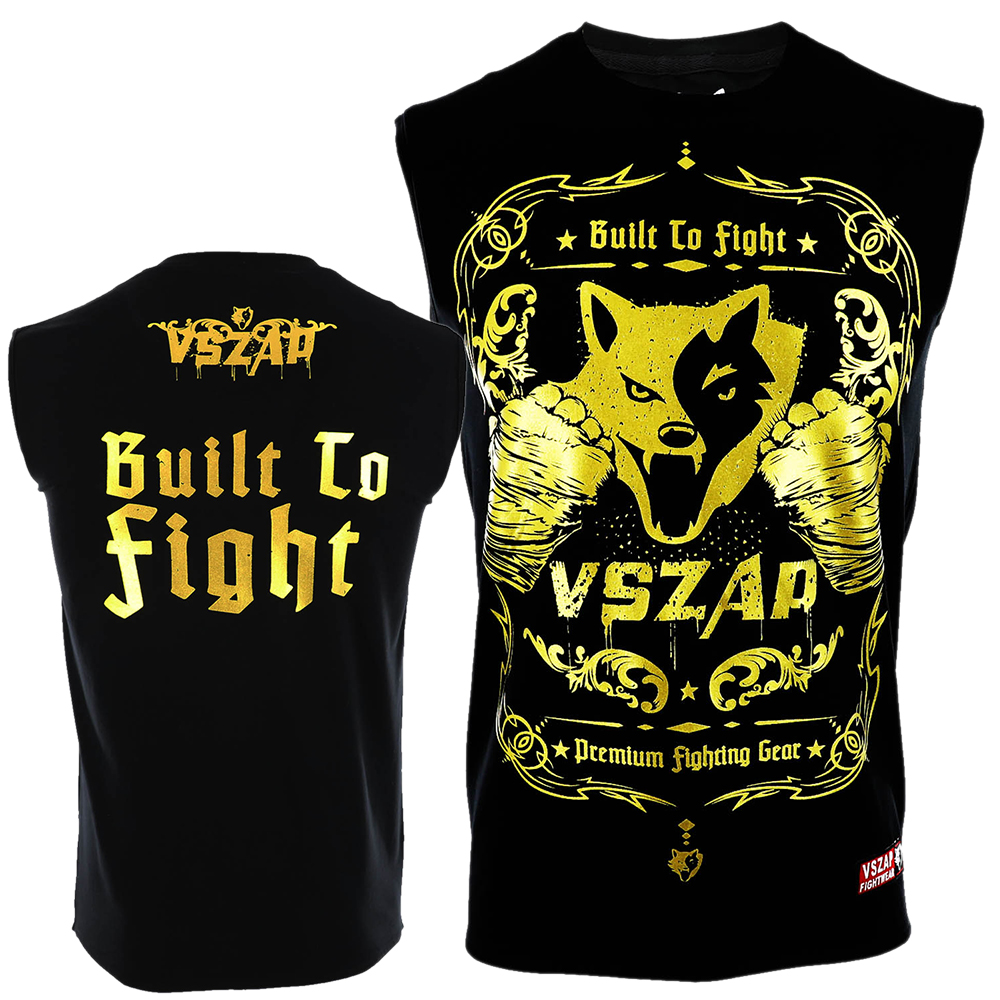 VSZAP Golden Boxing T Shirt Men Cheap Mens MMA Clothing Breathable Cotton Shorts Fight Muay Thai MMA Kickboxi Gym Tee Shirt