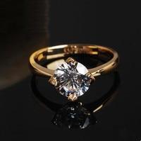 Кольца для женщин Роскошные Moissanite кольцо розовое золото Trency обручальное кольцо для женщин ювелирные украшения для брака 0,5 карат