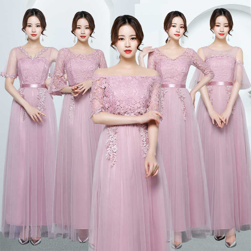 3987bb727ea13 Young Gee Women Slash Neck Floral Lace Mesh Dress Spring Summer Slim Trunic  Cloak Sleeves Show Party Maxi Dresses vestido longo