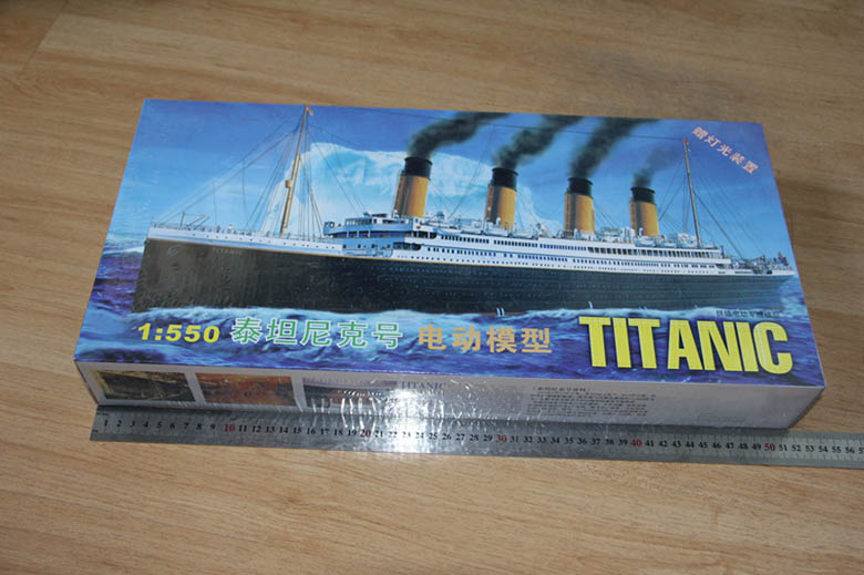 1:550 RMS Titanic Model Building Kits Assembly Plastic Ship Model With Electric Motor Lighting Device Electric Titanic Toy