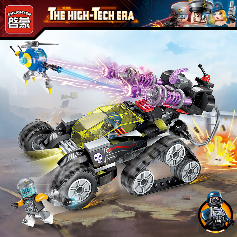Enlighten Police Educational Building Blocks Toys For Children Kids Gifts City Heroes high tech Super police Chariot Battle ...