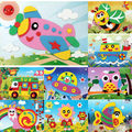 Free Shipping 10 pcs/lot 13*17cm DIY Handmade 3D Eva Foam Puzzle Sticker Eva foam sticker toys for learning & education Toys