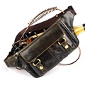 Pacote de cintura do couro saco handmade saco de couro genuíno saco pequeno mensageiro close montagem anti roubo saco fanny