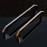 128mm 160mm Fashion Deluxe Glass Diamond Handles Silver Kitchen Cabinet Drawer Dresser Door Handles Pulls Clear