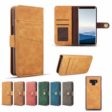 Detached 2 in 1 Wallet Case For Samsung Galaxy Note 9 10 10+ Plus Matte Cover Magnetic Retro Leather Magnet Car Stand Holder