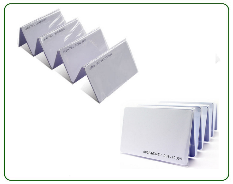 RFID UHF combined smart PVC card tag chip 125KHZ+915MHZ(866MHZ, from 825MHZ to 925MHZ)