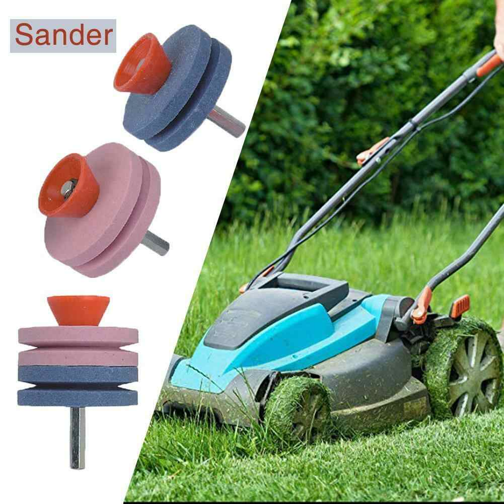 1pcs 3 Colors Grinding Drill Sharpener Lawnmower Rotary Blade Garden Tool Sharpener for Rotary Drill Cuts Blade Sharpener
