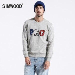 SIMWOOD 2019 الربيع جديد الشارع الشهير هوديس أزياء الهيب هوب فضفاض سوياتشيرتس زائد حجم التطريز س الرقبة البلوز 180318