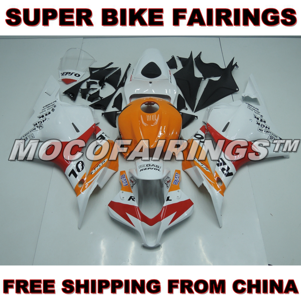Fairings For Honda CBR600RR F5 2009 2010 2011 2012 Injection ABS Plastic Motorcycle Fairing Kit Cowlings White Repsol New