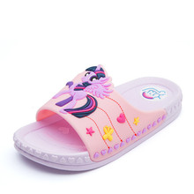 Buy Children Slippers for Girls Summer Indoor Kids Slippers Anti-skid Lovely Cartoon Soft Bathroom Household Shoe 1#15D50 directly from merchant!