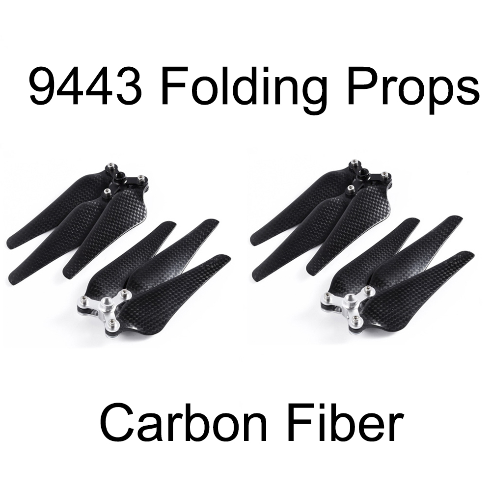 4pcs 9443 Carbon Fiber Folding Propeller for DJI Phantom2 Vision Drone 3-Leaf Self-locking Props Replacement Blade Spare Parts 4 pairs 9 9443 self tightening propeller prop for dji phantom 2 vision plus