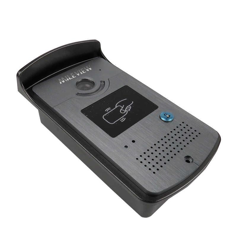 """جديد 7 """"شاشة فيديو هاتف إنتركم للباب نظام + 2 الأبيض شاشات + 1 RFID الوصول كاميرا الكهربائية قفل مغناطيسي شحن مجاني"""