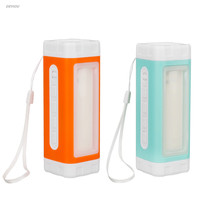 Solar Power Rechargeable Portable Speaker With LED Flashlight Camping Tent Light Lamp DEYIOU