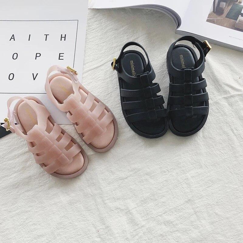 Mini Melissa 2018 Roman Sandals Melissa Jelly Shoes Sandals ChildrenS Shoes Roman Kids Sandals Melissa Shoes Kids 12.8-17.8cm