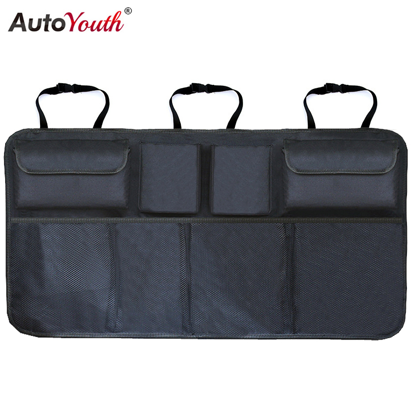 Car Trunk Organizer Adjustable Backseat Storage Bag Net High Capacity Multi use Oxford Automobile Seat Back Organizers Universal-in Stowing Tidying from Automobiles & Motorcycles