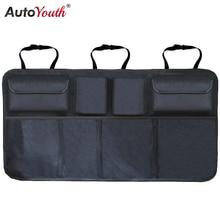 Car Trunk Organizer Adjustable Backseat Storage Bag Net High Capacity Multi-use Oxford Automobile Seat Back Organizers Universal
