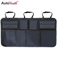 Car Trunk Organizer Adjustable Backseat Storage Bag Net High Capacity Multi Use Oxford Automobile Seat Back