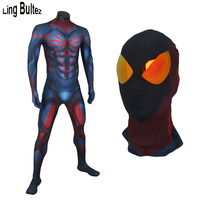 Ling Bultez High Quality New Unlimited Spiderman Cosplay Costume With Muscle Shade Spider Man Unlimited Costume For Halloween