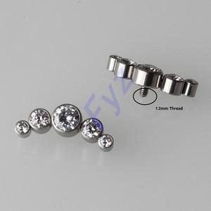 Image 1 - G23 Piercing para labio G23 de titanio con anclaje dérmico, cartílago de oreja, Tragus, Piercing, Labret