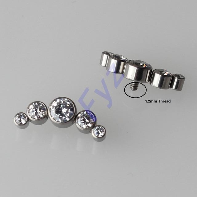 G23 Piercing para labio G23 de titanio con anclaje dérmico, cartílago de oreja, Tragus, Piercing, Labret