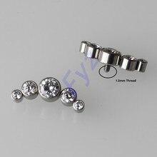 G23 Titanyum CZ Zirkon Dermal Çapa Kulak Kıkırdak Helix Tragus Damızlık Labret Dudak Piercing Üstleri Yedek göbek takısı