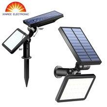 2 шт. 48 Светодиодный светильник на солнечной батарее для улицы и сада, супер яркий двойной Солнечный Прожектор, светильник для улицы, светильник для газона, Солнечный настенный светильник, водонепроницаемый