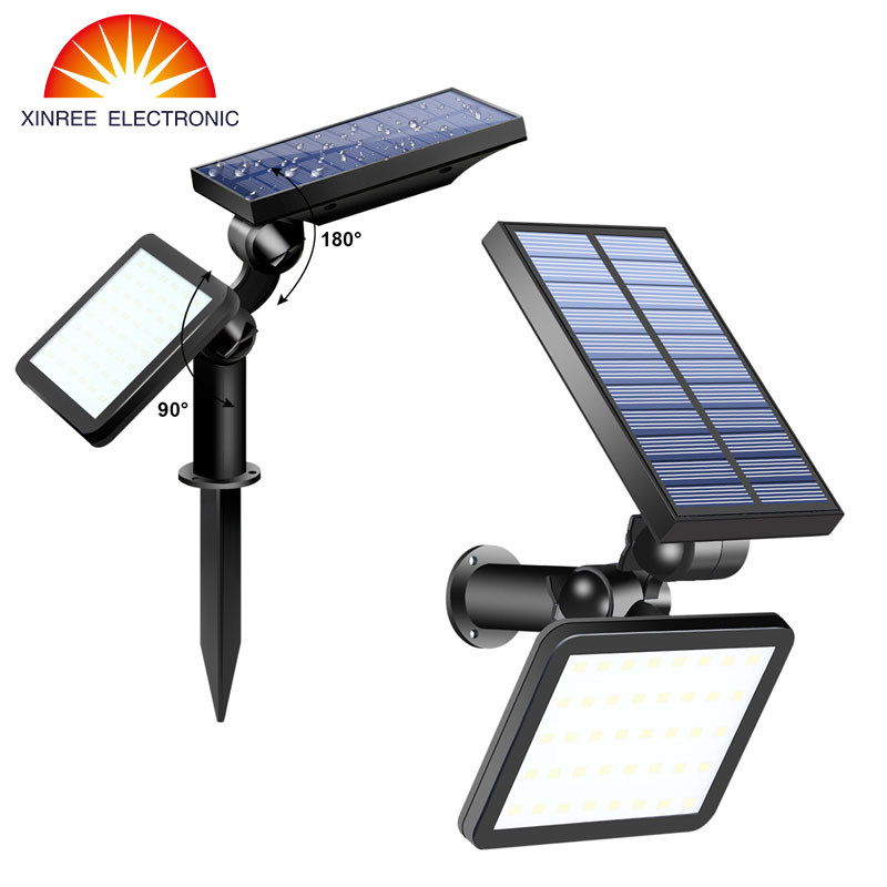 2PCS 48 LED Solar Light Outdoor Garden Super Bright Dual-use Solar Flood Light Street Path Lawn Light Solar Wall Lamp Waterproof 30w solar flood light solar led light floodlight garden lawn outdoor waterproof lamp household emergency light