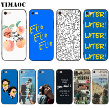 Yimaoc Call Me Door Uw Naam Soft Silicone Case Voor Iphone 11 Pro Xs Max Xr X 8 7 6 6S Plus 5 5 S Se(China)