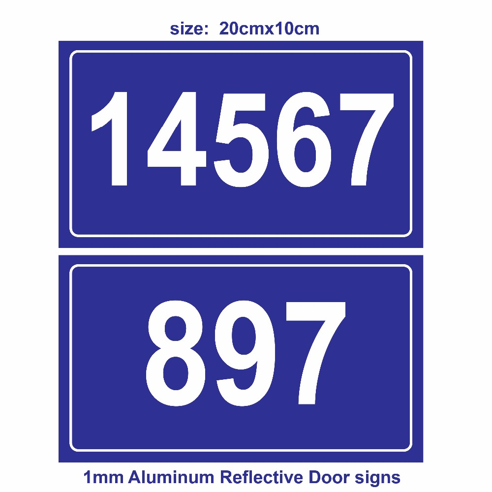 где купить Reflective Door Sign ,Door Number;Custom-made, 1mm Aluminum with UV print дешево
