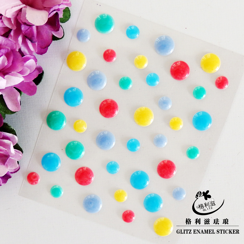 Sugar Sprinkles Self adhesive Enamel Dots Resin Sticker for Scrapbooking DIY Crafts Card Making Decoration EN 02 in Stickers from Home Garden