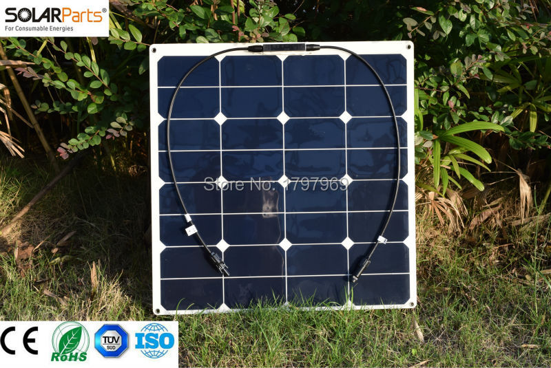 Boguang 3PCS 50W semi flexible solar panels rollable solar modules for RV Boat Home use with