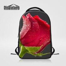 Dispalang дизайнер школьные сумки для студентов колледжа Роза Цветочный принт Дамы Путешествия Ноутбук Рюкзак молодежный девчушки Mochila Feminina