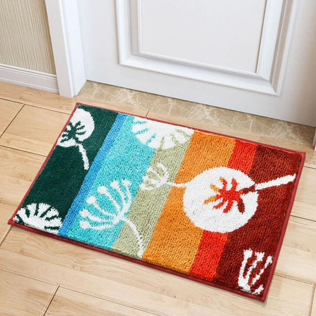 50x80cm Anti Slip Kitchen Mat Absorb Water Carpet Home Doormat Simple Style Bath