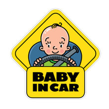 Funny PVC Car Stickers Tuning Window Baby on Board Personalized Decor Automotive