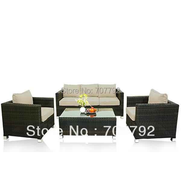 2017 estilo moderno sofá Muebles de ratán patio terraza al aire ...