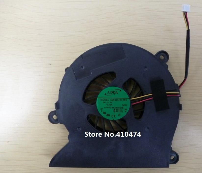 SSEA új CPU ventilátor Clevo M760 S410 laptop ventilátorhoz AB0805HX-TE3 CPU hűtő hűtőventilátor