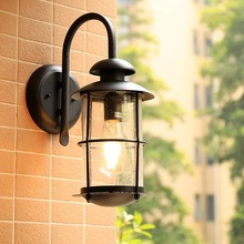 HAWBOIRR LED European style simple outdoor villa balcony waterproof rust retro corridor lights residential street wall lamp fashion outside decorative wall light waterproof buitenlamp residential villa outdoor lighting villa corridor balcony wall lamp