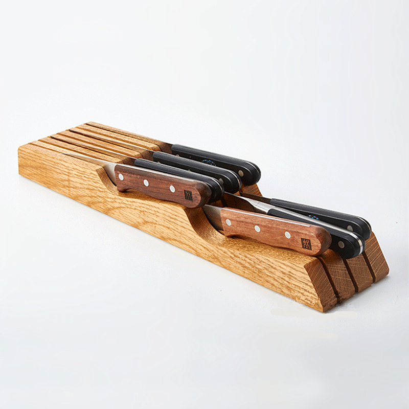 Fashion Creative Multifunctional Knife Holder Health Bamboo Knife Rest Easy To Cleaning Knife Rack Practical Kitchen Accessories