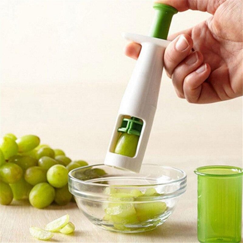 Новые ручки виноград помидор и прибор для удаления косточек кухня устройство для резки овощей и фруктов инструменты вспомогательный детск...