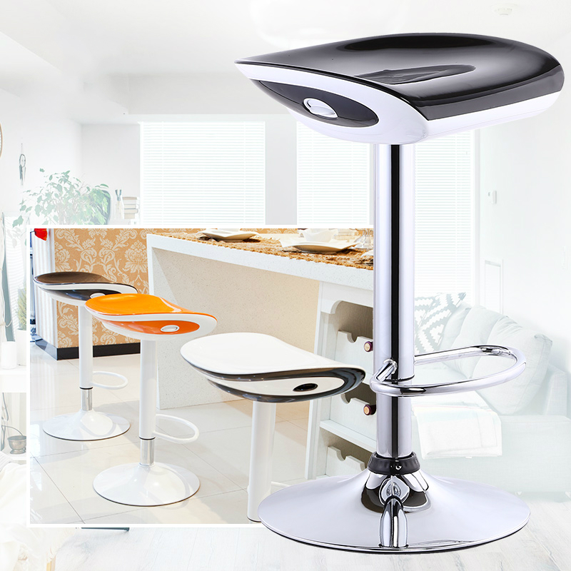 Multi-function Lifted Bar Chair With Footrest Rotated Household Leisure Balcony Stool Adjustable Coffee Shop Stable Dining Chair