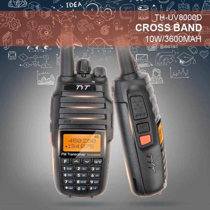 bilder für Upgrade-Version Leistungsstarke Long Range 10 Watt Kreuz Band VHF UHF TYT TH-UV8000D Amateurfunk-transceiver mit 3600 MAH Li-Ion batterie