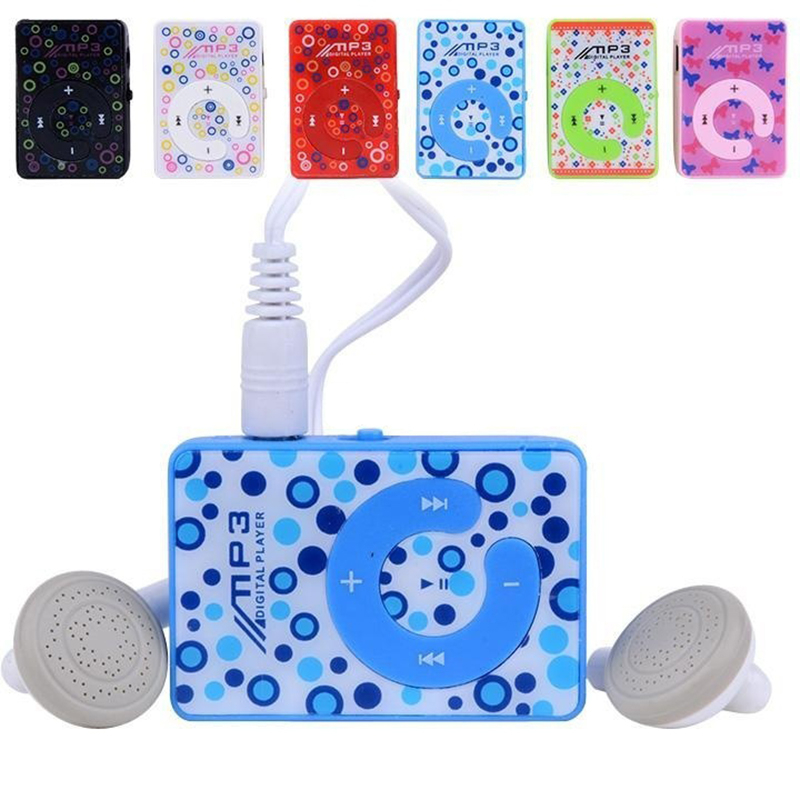 USB Charging Colorful Mini MP3 Player Student Children Fashion Music Players Touch Tone Cliping Portable MP3 Support TF/SD Card